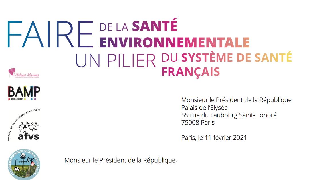 La santé environnementale, oubliée de la sortie de crise de Covid-19 : des associations interpellent le Président de la République